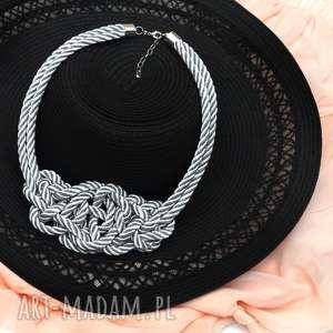 naszyjniki naszyjnik misterny węzeł silver, srebrny, naszyjnik, kolia, pleciony