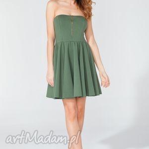 sukienka mini z gorsetowym przodem t122 kolor zielony - tessita, sukienka, gorsetowa