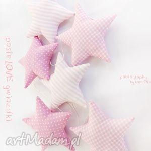 gwiazdeczki - girlanda wersja pink, gwiazdka, girlanda, gwiazdki dla dziecka