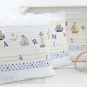 poduszka dekoracyjna 40x40cm - marine, poduszki, poszewka, prezent, dekoracja