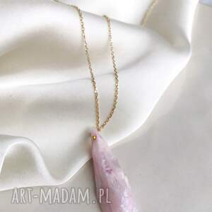handmade naszyjniki naszyjnik - kwarc różowy