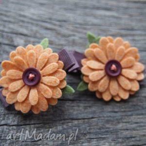 spinki do włosów kwiatki z filcu, spinki, kwiatki, filcowe, ozdoba