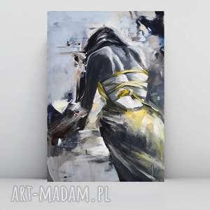 dress, obraz do salonu, kobieta obraz, żółty kobieta, zmysłowy