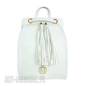 hand made manzana plecak/torebka wygodny styl - biały