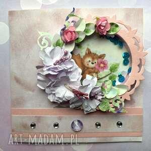 kartka urodzinowa dla dziewczynki - urodziny, prezent, dziecko, kartka, różowa