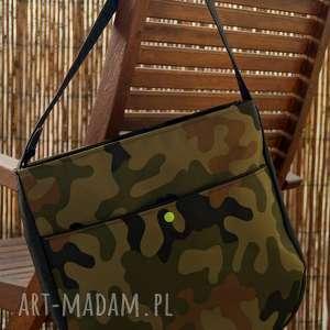 ręcznie robione na ramię torba moro z kieszenią