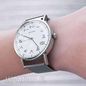 zegarki zegarek, bransoletka - kanji metalowy, bransoleta, metalowa
