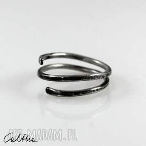 caltha wężyk - srebrny pierścionek 2109-21, pierścionek, regulowany