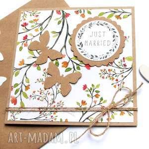 kartka ślubna :: floral EKO, eko, ślub
