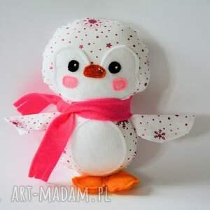 pingwinek lusia, pingwinek, dziewczynka, gwiazdka, maskotka, boże, narodzenie