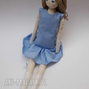 lalka #103, szmacianka, przytulanka, bawełniana, tilda, wełna, lala dla dziecka
