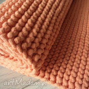 ręcznie robione dywany pomarańczowy dywan ze sznurka 80 x 105 cm