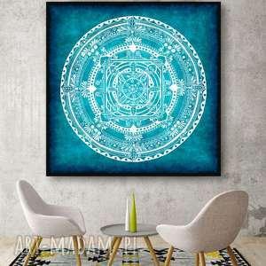 Mandala 50x50cm, mandala, obraz, grafika, plakat