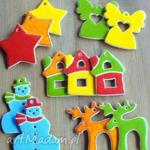 handmade pomysł na święta upominki kolorowe zawieszki świąteczne