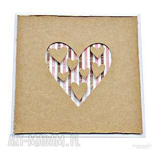 Kartka dla ukochanej osoby, kartka, serce, miłość, walentynki, craft,