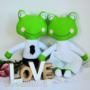 para ślubna - żabki duże, ślub, para, żabki, personalizaja, rocznica, zabawka