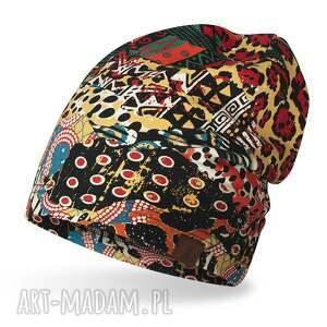 czapka cienka lekka do biegania bawełniana, bawełna, dresówka, print safari