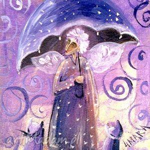 anioł z parasolem, anioł, parasol, jesień, święta