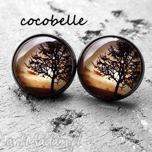 Nature - kolczyki z grafiką cocobelle natura, drzewa, krajobraz
