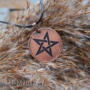 Wisior z trawionej miedzi - Pentagram mini, pentagram, pentakl, miedź, miedziany