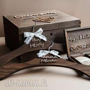 ślub rustykalne na koperty obrączki wieszaki ii, ślub, pudełko
