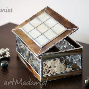 szkatułka witrażowa retro, szkatułka, puzderko, witraż, witrażowa, glamour