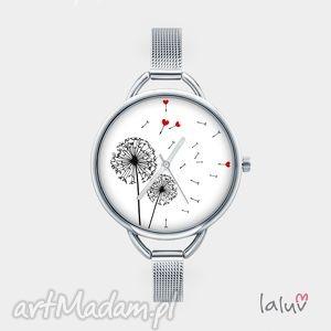 Zegarek z grafiką PODMUCH, bransoletka, czas, miłośc, dmuchawiec, nodtalgia, kwiat
