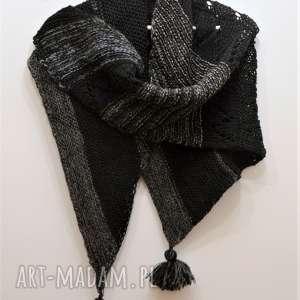 the wool art asymetryczna chusta, szal, baktus, ażurowe, akcesoria