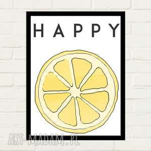 Happy lemon plakat 30x40 plakaty gau home