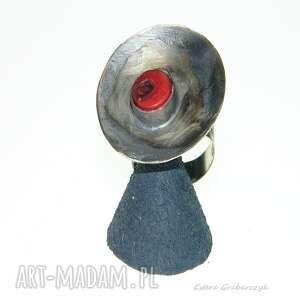 pierścionek z alpaki koralem-p2
