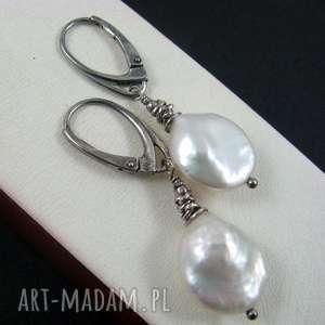Perły kolczyki, perły