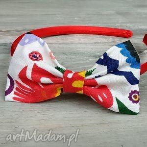opaska z kokardką dla dziewczynki bukiet pasji - kokarda, prezent