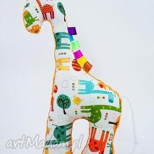 maskotki żyrafka żyrafy turkus, żyrafy, przytulanki