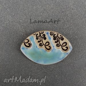 Ceramiczna Broszka., broszka, ceramiczna, biżuteria