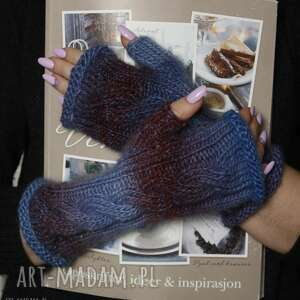 ręczne wykonanie rękawiczki himalaya ombre