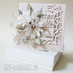 Z życzeniami - w pudełku scrapbooking kartki marbella ślub