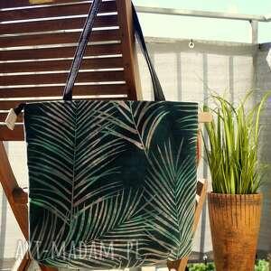 Torba worek na ramię happyart torba, wzór botaniczny, mozaika