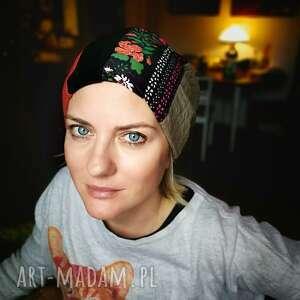 handmade czapki czapka szyta patchworkowo damska krótka dobra na codzienne noszenie