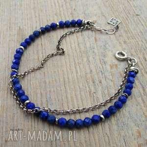 Lapis lazuli - bransoletka , lapis, srebro