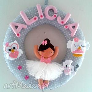 personalizowana girlanda z imieniem dziecka - girlanda, dekoracja, dziecko, filc