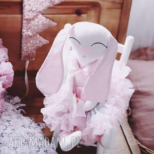 maskotki irmina króliczek baletnica, maskatka, króliczek, przytulanka, zabawka