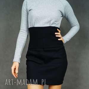 Sukienka dresowa Lileczka szaro-czarna, dresowa, elegancka, dopasowana, długirękaw
