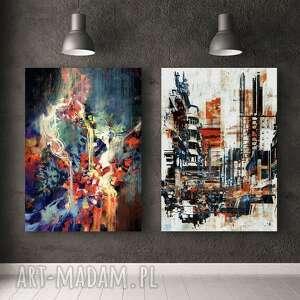 zestaw 2 plakatów #14 61x91 cm, obraz, plakat, abstrakcja