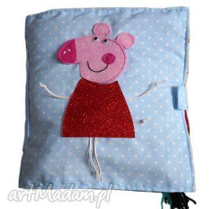 Książka sensoryczna- świnka Peppa - ,książka,sensorczna,edukacyjna,świnka,peppa,minky,