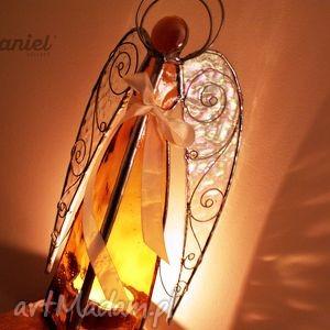 hanielgallery anioł lampion witrażowy aureus, anioł, aniołek, lampion, świecznik