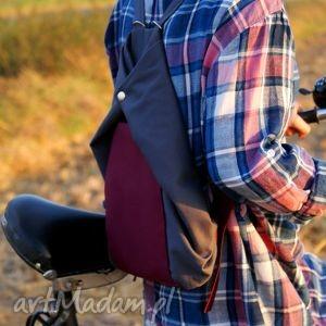 manufakturamms rowelove vege szary buraczek, plecak, worek, rower, drelich