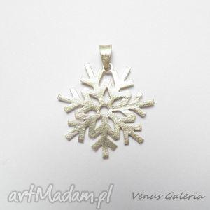 Śnieżynka - wisiorek srebrny, srebro, wisior, śnieżynka, biżuteria, venus, naszyjnik