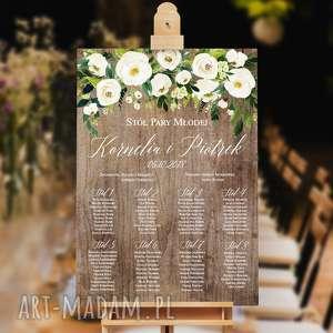 Plakat Plan stołów - 50x70 cm, plan-stołów, goście, ślub, wesele, stoły,