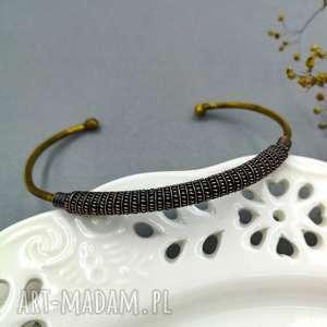 trybik - bransoletka unisex z miedzi i mosiądzu, mosiądz, wire