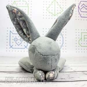 luluś królik - dla niemowląt szare liski, przytulanka, maskotka, niemowlę, prezent